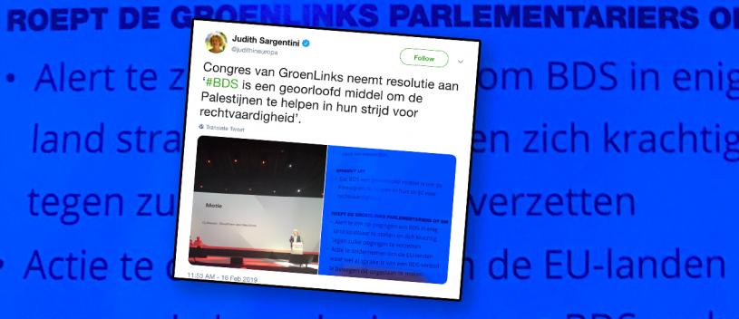 GroenLinks moet afstand nemen van antisemitische haatclub BDS